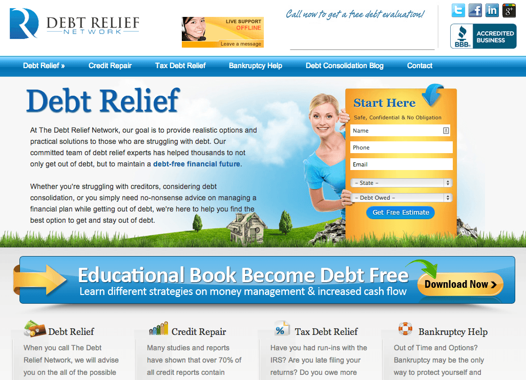 Debt-Relief-Network-Home-Page-Screen-Shot